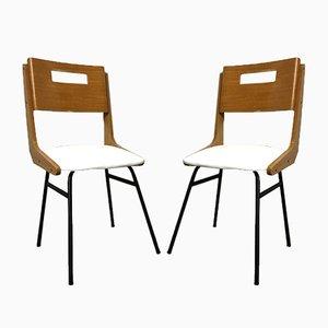 Italienische Esszimmerstühle von Carlo Ratti, 1950er, 2er Set