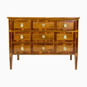 18th Century Louis XVI Marquetry Walnut Commode Chest of Drawers