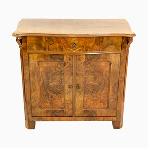 19th Century Louis Philippe Walnut Half Cabinet