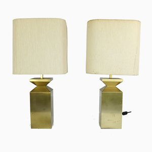 Vintage Brass Table Lamps in the Style of A. Montagna Grillo & A. Tonello, Set of 2