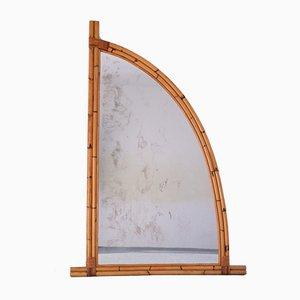 Large Mid-Century Bamboo Sailing Mirror