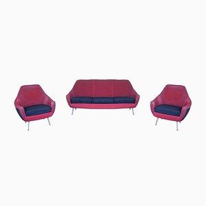 Mid-Century Living Room Set, 1950s, Set of 3