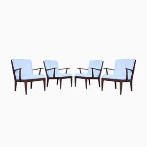 Lounge Chairs, 1950s, Set of 4