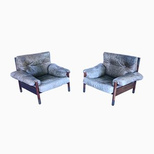 Vintage Rosewood Model Sella Lounge Chairs by Carlo de Carli for Luigi Sormani, Set of 2