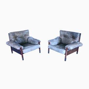 Vintage Rosewood Model Sella Lounge Chairs by Carlo de Carli for Luigi Sormani, Set of 2