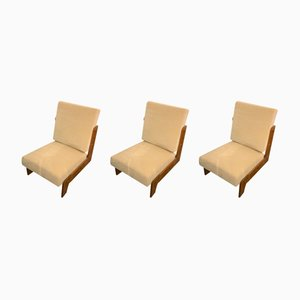 Lounge Chairs by Pierre Jeanneret for Pierre Jeanneret, 1950s, Set of 3
