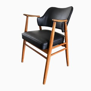 Scandinavian Teak Desk Chair, 1950s