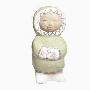 Stoneware Eskimo Figurine by Mari Simmulson for Upsala Ekeby, 1950s