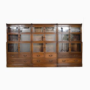 Antique English Mahogany Modular Bookcases from Minty of Oxford, 1920s