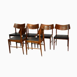 Mid Century Dining Chairs by Alfred Hendrickx for Belform, Set of 6