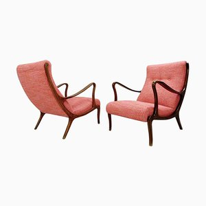 Armchairs by Ezio Longhi, 1950s, Set of 2