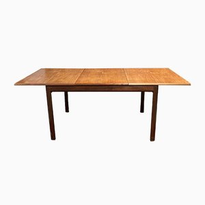 English Teak Dining Table with Butterfly Extension Leaf, 1970s