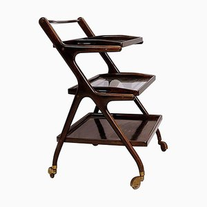 Bar Cart with 2 Trays by Cesare Lacca, 1950s