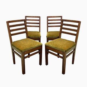 Chaises de Salon en Acajou, 1930s, Set de 4