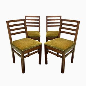 Mahogany Dining Chairs, 1930s, Set of 4
