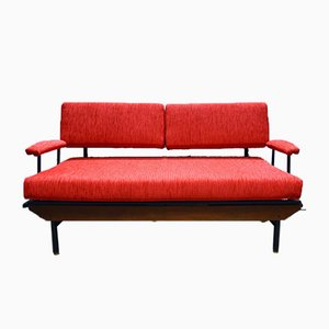 Italienisches Mid-Century Cord Sofa, 1950er