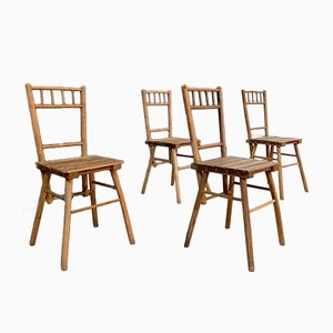 Brutalist Dining Chairs, 1950s, Set of 4