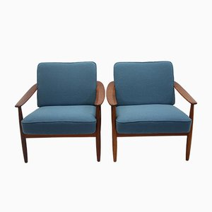 Danish Handmade Armchairs by Hans Olsen, 1960s, Set of 2