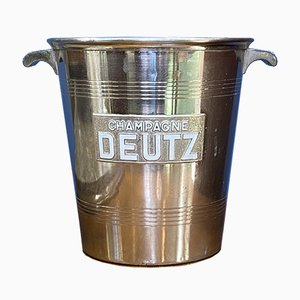 Silver-Plated Metal Champagne Bucket from Deutz, 1930s