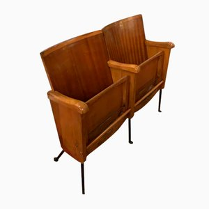 Mid-Century Cinema Armchairs, Set of 2