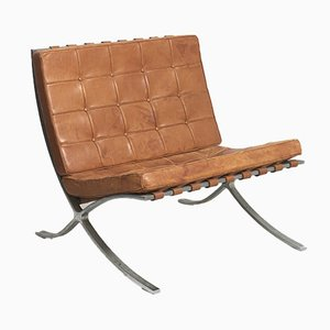 Mid-Century Barcelona Lounge Chair by Ludwig Mies van der Rohe for Knoll Inc. / Knoll International