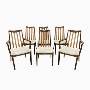 English Teak Dining Chairs, 1970s, Set of 6