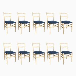 Chaises de Salon par Gio Ponti, 1960s, Set de 10
