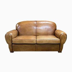 Leather Club Sofa, 1980s