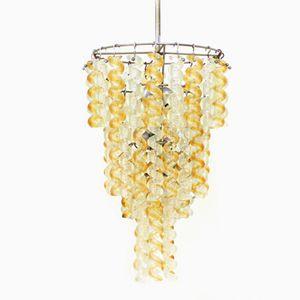 Twisted Italian Murano Glass Chandelier, 1965