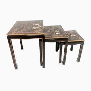 Vintage Oriental Nesting Tables