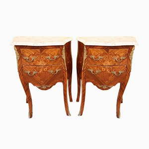 Tables de Chevet Antique, France, Set de 2