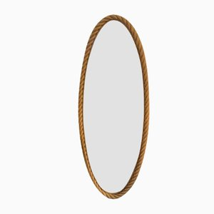 Rope Mirror by Adrien Audoux & Frida Minet, 1960s