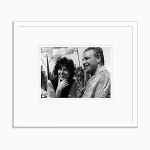 Magnani & Marlon on Set 1959 Archival Pigment Print Framed in White by Everett Collection