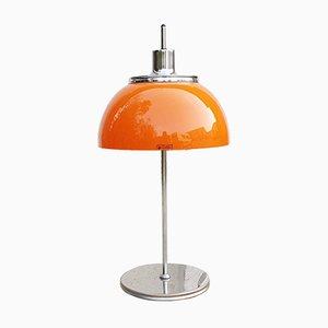 Lampada da tavolo Faro vintage arancione di Luigi Massoni per Guzzini, Italia, anni '70