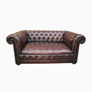 Chesterfield Leather Sofa, 1970s