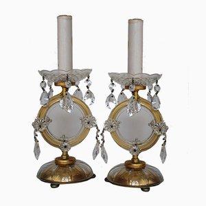 Lampade da tavolo viennesi in cristallo di Lobmeyr, anni '50, set di 2