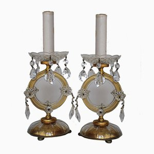 Viennese Crystal Glass Table Lamps from Lobmeyr, 1950s, Set of 2