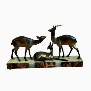 Art Deco Deer Sculpture, 1920s