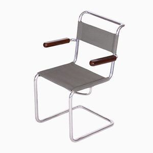 Vintage Bauhaus Tubular Chrome Chair from Hynek Gottwald, 1930s
