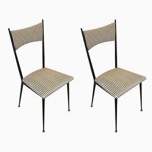 Französische Esszimmerstühle, 1950er, 2er Set