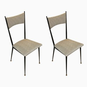 French Dining Chairs, 1950s, Set of 2