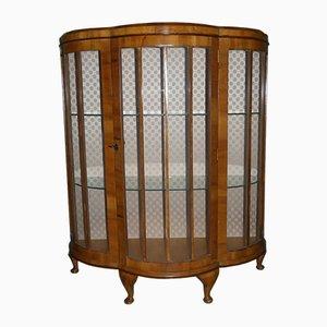 Antique Semi-Circular Curved Glass Cupboard with Fine Feet