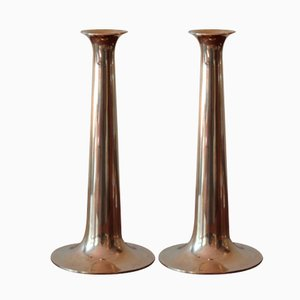 Mid Century Brass Candle Holders by Torben Ørskov, ca. 1950s, Set of 2