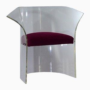 Vintage Sessel aus Plexiglas