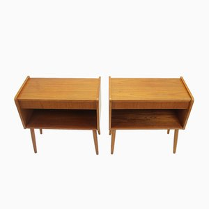 Danish Bedside Tables with Drawer, 1966, Set of 2