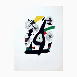 La Mélodie Acide 11 Lithograph by Joan Miró for Poligrafa Barcelona S.A.