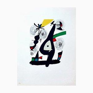 La Mélodie Acide 11 Lithographie von Joan Miró für Poligrafa Barcelona SA