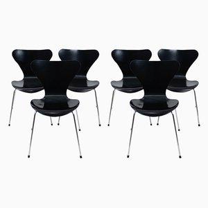 Series 3107 Esszimmerstühle von Arne Jacobsen für Fritz Hansen, 1990er, 8er Set