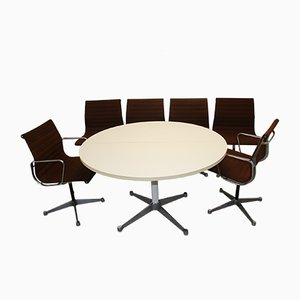 Mid-Century Living Room Set by Charles & Ray Eames for Herman Miller, Set of 7
