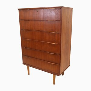 Danish Teak Chest of 6 Drawers, 1966